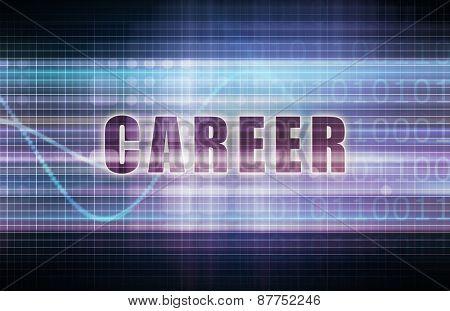 Career on a Tech Business Chart Art