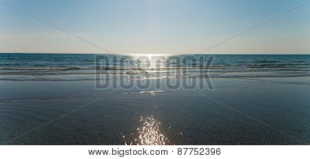 Beach In Afternoon In Summer