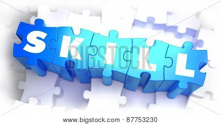 Skill - White Word on Blue Puzzles.