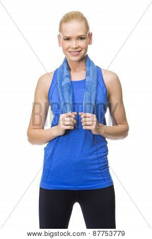 woman in fitness clothes