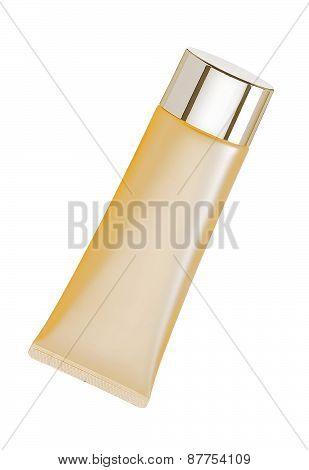 Liquid Makeup Foundation In Tube Isolated On White