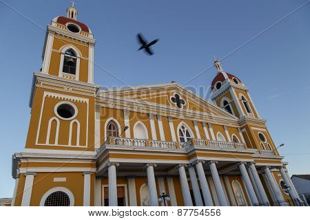 Cathedral Of Granada, Outdoors View, Nicaragua, Central America.