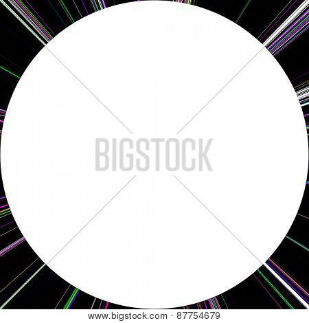 Grunge line isolated on a black background