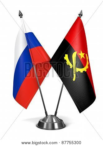 Russia and Angola - Miniature Flags.