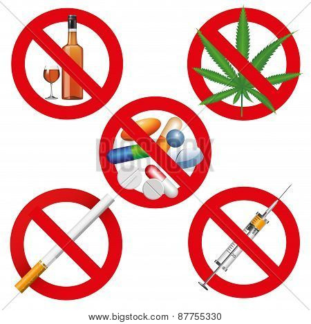 No Drugs, Smoking And Alcohol