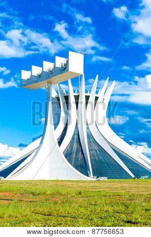 BRASILIA, BRAZIL - CIRCA MARCH 2015: Cathedral of Brasilia, Brazil.