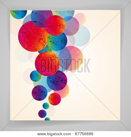 Multicolor abstract bright background. Circles elements for design.