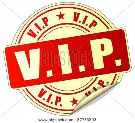 Vip Red Sticker