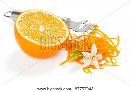 Orange Zesting With Flowers