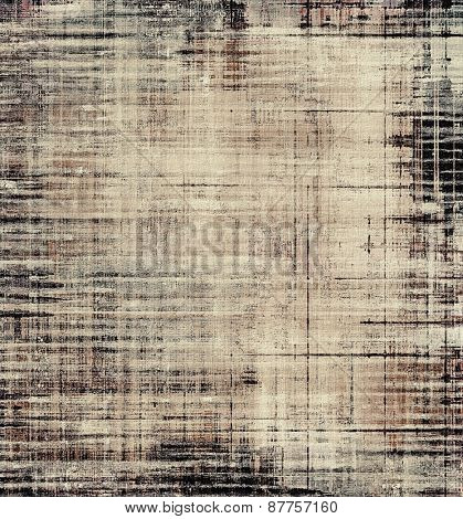 Old designed texture as abstract grunge background. With different color patterns: brown; gray; black