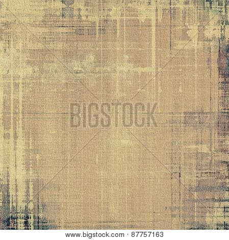 Retro background with old grunge texture. With different color patterns: brown; gray; yellow (beige)