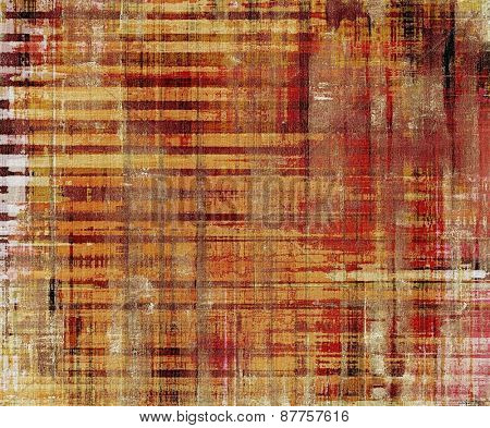 Old abstract grunge background for creative designed textures. With different color patterns: red (orange); brown; yellow (beige)