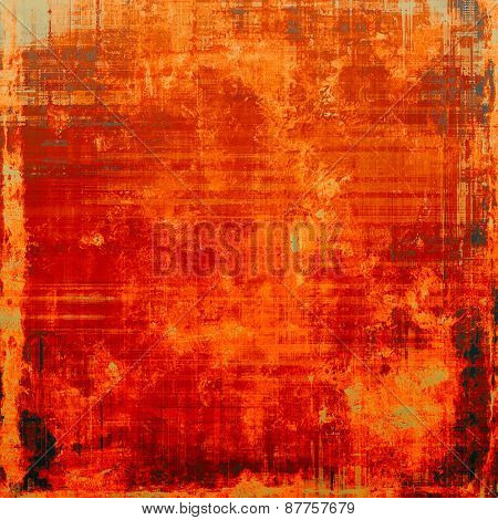 Old texture with delicate abstract pattern as grunge background. With different color patterns: red (orange); brown