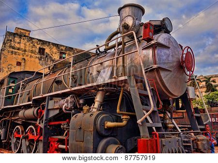 An old steam engine at a depot December 19, 2013 in Havana, Cuba.