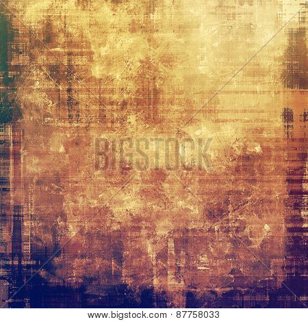 Retro background with old grunge texture. With different color patterns: brown; yellow (beige); purple (violet)
