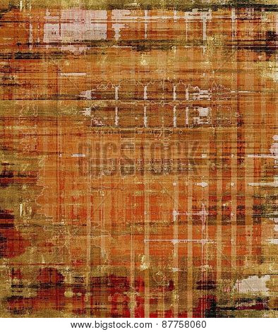 Abstract old background with rough grunge texture. With different color patterns: brown; gray; yellow (beige)