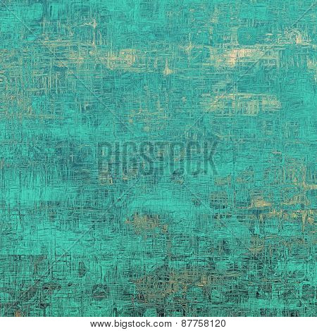 Vintage old texture with space for text or image, distressed grunge background. With different color patterns: yellow (beige); blue; cyan