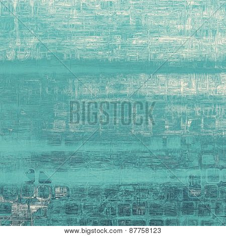Old style detailed texture - retro background with space for text or image. With different color patterns: gray; blue; cyan