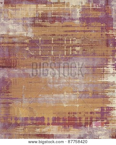 Old texture with delicate abstract pattern as grunge background. With different color patterns: brown; gray; yellow (beige); purple (violet)