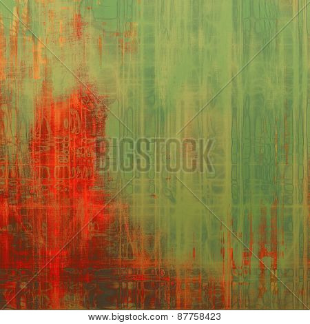 Old-style background, aging texture. With different color patterns: red (orange); brown; green