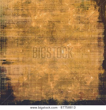 Grunge old texture as abstract background. With different color patterns: brown; yellow (beige); black