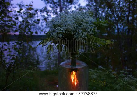 St. John's bonfire and flowers