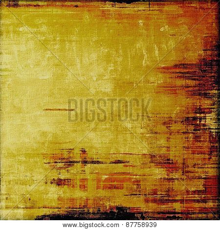 Aged grunge texture. With different color patterns: red (orange); brown; yellow (beige); black