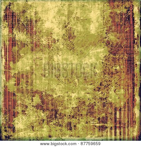 Grunge background or texture for your design. With different color patterns: brown; green; yellow (beige)