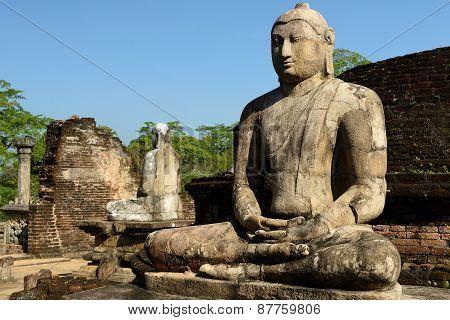 Polonnaruwa Ruin, Vatadage (round House), Sri Lanka