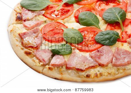 Pizza Slice Close Up
