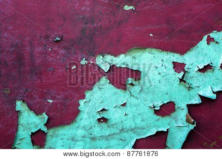 wooden surface with an old paint