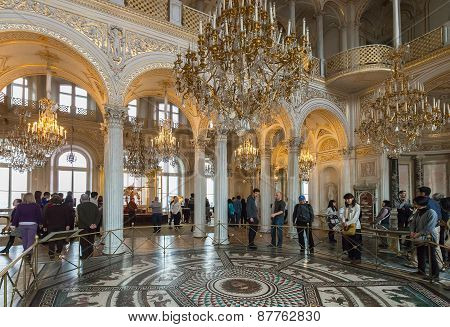 Interior Of State Hermitage (winter Palace), St.petersburg, Russia