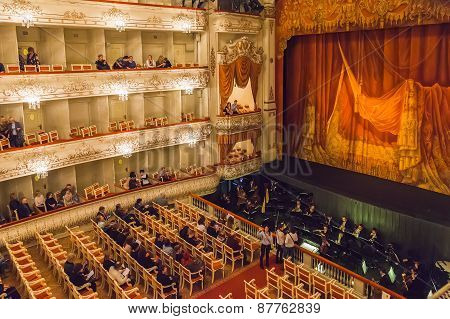 The Auditorium Of The Mikhailovsky Theatre, St.petersburg