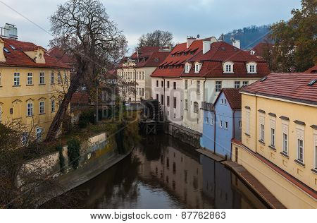 Canal in centre of Prague