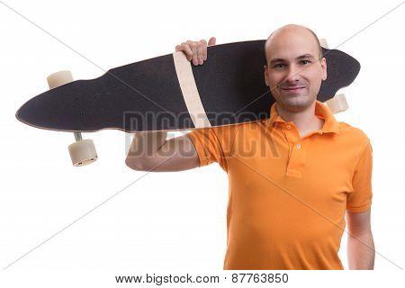 Man With Longboard