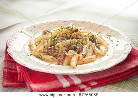Penne Pasta With Meat