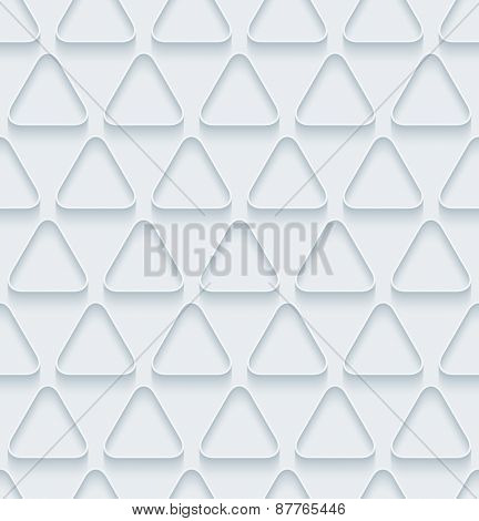 White paper with outline extrude effect. Abstract 3d seamless background. Halftone vector EPS10.