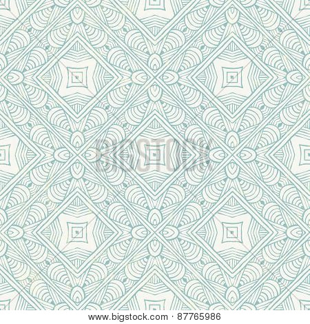 Hand-drawn blue abstract pattern