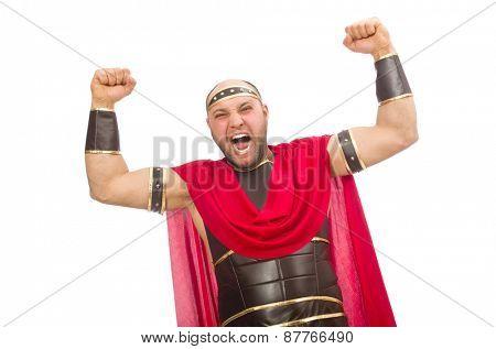 Gladiator isolated on white