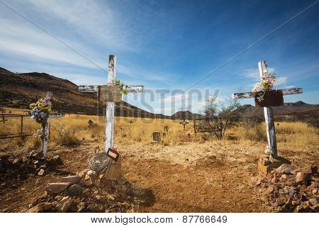 Old Graves With Crucifix