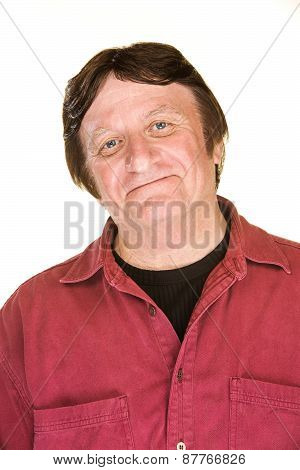 Confident Man In Red