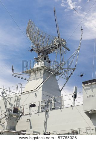 Radar tower on a destroyer