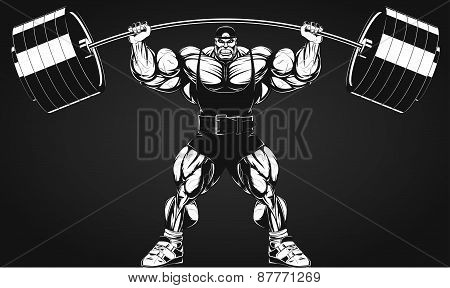 Bodybuilder with a barbell