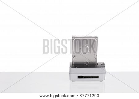 Dock Station To-read Hard Drives. To Format And Backup Data. Hdd.