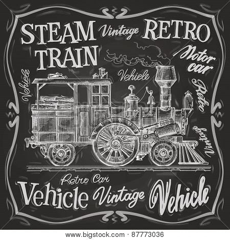steam train vector logo design template. locomotive or transportation icon.