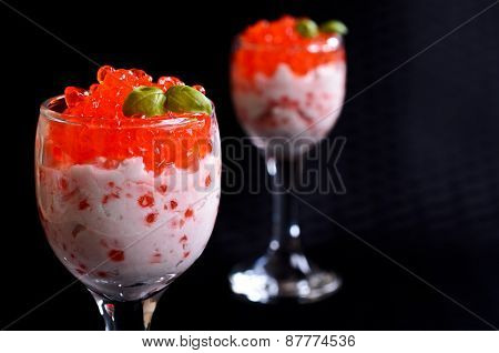 Red Caviar With Cream Cheese