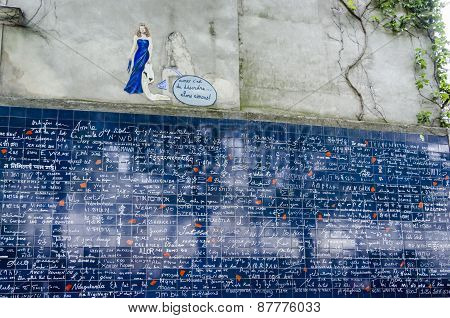 I Love You Wall, Montmartre, Paris, France