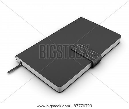 Black Notebook For Notes On A White Background