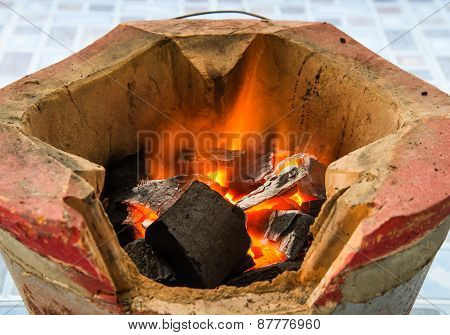 Stoves And Charcoal Fire.