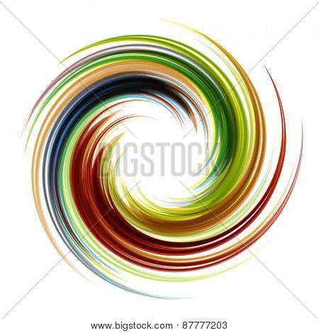Colorful abstract icon. Dynamic flow illustration. Swirl background.